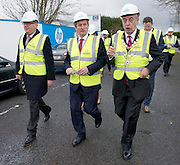 03/02/2014 HP Ireland announced the formal commencement of the construction phase of its new 89,000 sq. ft. office building in Ballybrit, Galway, at a ceremony attended by An Taoiseach, Enda Kenny, TD.  The project is expected to be one of the largest construction projects in Galway in recent times, and is likely to create up to 200 construction jobs.  Pictured at the event were: Mark Gantly HP Ireland  An Taoiseach Enda Kenny TD, Mayor of Galway Cllr Padraig Connelly . Photo:Andrew Downes.