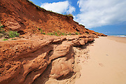 Red rocks and beach