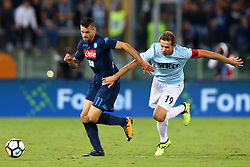 September 20, 2017 - Rome, Lazio, Italy - Christian Maggio of Napoli and Senad Lulic of Lazio during the Serie A match between SS Lazio and SSC Napoli at Stadio Olimpico on September 20, 2017 in Rome, Italy. (Credit Image: © Matteo Ciambelli/NurPhoto via ZUMA Press)