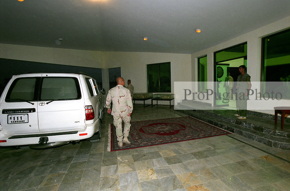 Member of the US Marine Corps at the Kandahar's Governor residence