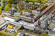 Nederland, Noord-Holland, Amstelveen, 28-04-2017; overzicht Amstelveen met Stadsplein met schouwburg en markt.<br /> City centre Amstelveen.<br /> luchtfoto (toeslag op standaard tarieven);<br /> aerial photo (additional fee required);<br /> copyright foto/photo Siebe Swart