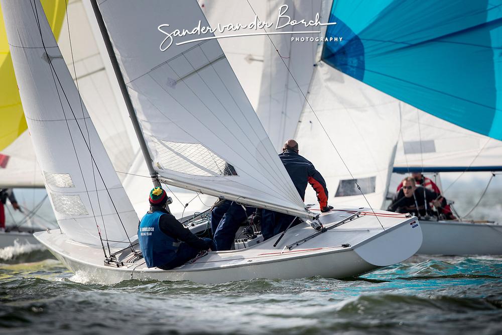 Soling Worlds 2017, Muiden, the Netherlands. September 20th 2017. Photo © Sander van der Borch.