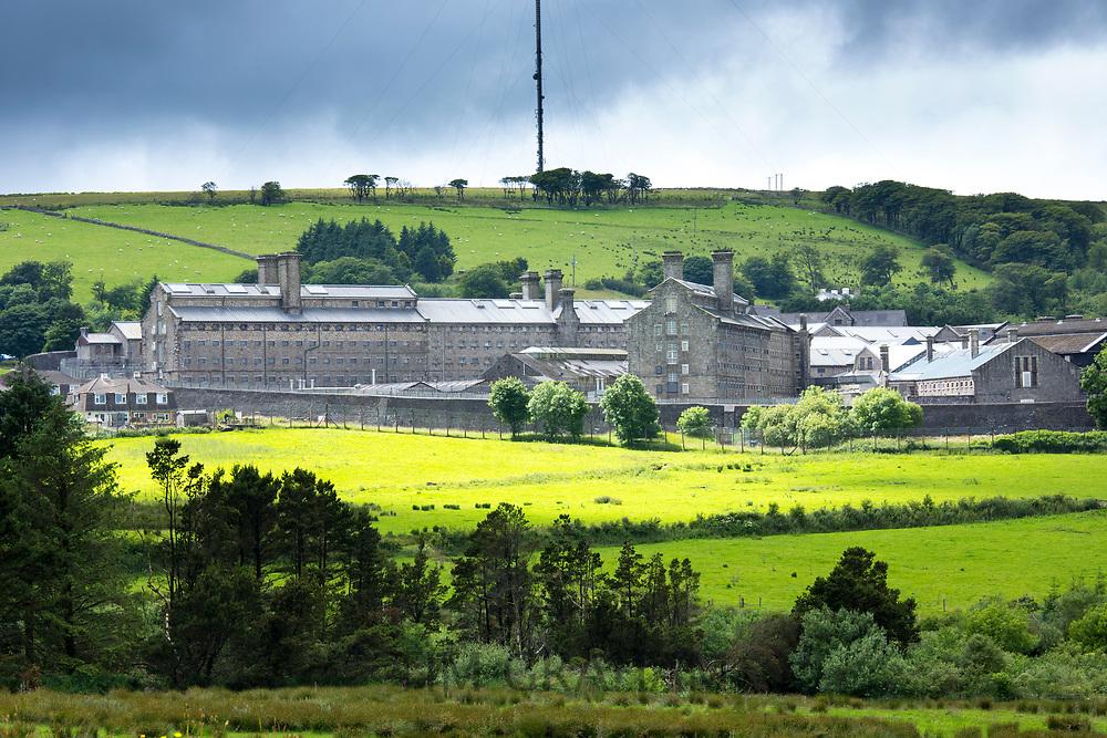 HM Prison Dartmoor a Category C men's top security prison in Princetown on Dartmoor in Devon county, England