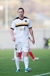 Dumbarton's Nicky Phinn..Dumbarton 0 v 2 Falkirk, 23/2/2013..©Michael Schofield.