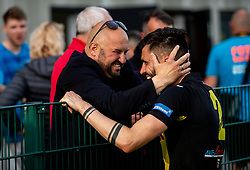 Zvonimir Blaic of Kalcer Radomlje celebrates after qualilfying to the First Slovenian league Prva liga during football match between NK Kalcer Radomlje and NK Brezice Terme Catez in 20th Round of 2. SNL 2020/21, on May 15, 2021 in Sports park Radomlje, Slovenia. Photo by Vid Ponikvar / Sportida