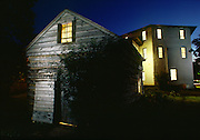 In the Wisconsin wilderness in 1844 five years after founding the town of Milton., Joseph Goodrich built a hexagonal inn and hand dug a tunnel from the inn's basement to a root cellar 40 ft away to hide slaves.