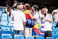 Real Madrid's supporters during a match of La Liga Santander at Santiago Bernabeu Stadium in Madrid. August 27, Spain. 2016. (ALTERPHOTOS/BorjaB.Hojas)