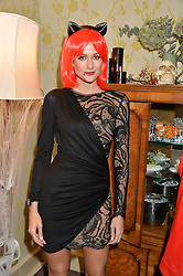 KIM JOHNSON at the Bumpkin Halloween Dinner hosted by Marissa Hermer held at Bumpkin, 119 Sydney Street, London on 23rd October 2014.