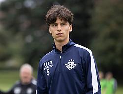Luca Costabile (FC Helsingør) under kampen i Sydbank Pokalen, 1. runde, mellem Bispebjerg Boldklub og FC Helsingør den 2. september 2020 i Lersø Parken (Foto: Claus Birch).
