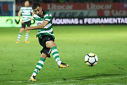September 8, 2017 - Santa Maria Da Feira, Aveiro, Portugal - Sporting's Portuguese fmidfielder Bruno Fernandes in action during the Premier League 2017/18 match between CD Feirense and Sporting CP, at Marcolino de Castro Stadium in Santa Maria da Feira on September 8, 2017. (Credit Image: © Dpi/NurPhoto via ZUMA Press)