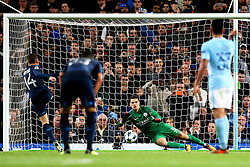 Dries Mertens of Napoli watches as his penalty saved by Ederson of Manchester City - Mandatory by-line: Matt McNulty/JMP - 17/10/2017 - FOOTBALL - Etihad Stadium - Manchester, England - Manchester City v Napoli - UEFA Champions League Group F