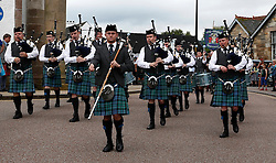 Inveraray and District Pipe Band and His Grace The Duke of Argyll lead the parade from Inveraray town centre to the games field at Inveraray Castle. Competitions include Piping, Highland Dancing, Heavy and Light events as well as the World Caber Tossing Championship.   (c) Stephen Lawson | Edinburgh Elite media