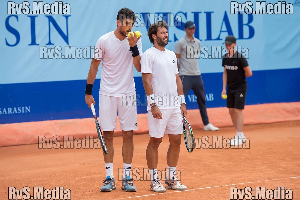 GSTAAD, SWITZERLAND JULY 27: Franko Skugor (CRO) and Jonathan Eysseric (FRA) during the ATP J.Safra Sarasin Swiss Open Gstaad. (Monika Majer/RvS.Media)
