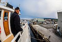 "Un-Cruise Adventures ""Wilderness Explorer"" arrives at the dock at Sitka, Alaska USA."