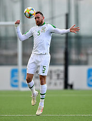 Republic of Ireland 's Richard Keogh during the UEFA Euro 2020 Qualifying, Group D match at the Victoria Stadium, Gibraltar.