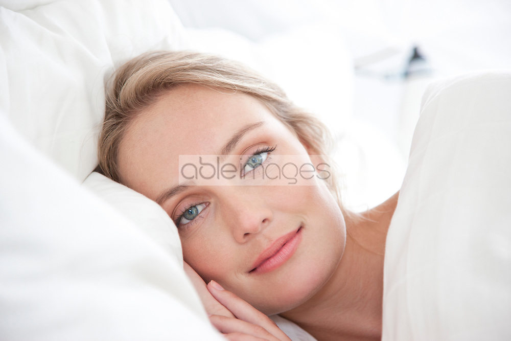 Woman in Bed, Close-up View
