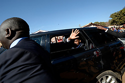 30/07/2018: Zimbabwe, Harare. MDC alliance president Nelson Chamisa motorcade leaving a polling station after casting his vote. <br /> Chamisa was voting at Kuwadzana 2 in Harare, Zimbabwe where thousands of voters were queuing to also cast their vote.474<br /> Picture: Matthews Baloyi/African News Agency (ANA)