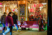 "10 DECEMBER 2020 - WEST DES MOINES, IOWA: Christmas decorations in the ""Historic Valley Junction"" neighborhood of West Des Moines.    PHOTO BY JACK KURTZ"