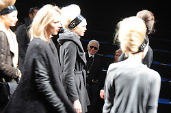Karl Lagerfeld during his Fall-Winter 2010/2011 ready-to-wear collection show in Paris, France on March 7, 2010. Photo by Nicolas Briquet/ABACAPRESS.COM