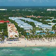 Aerial view of Riu Playacar. Playa del Carmen. Mexico