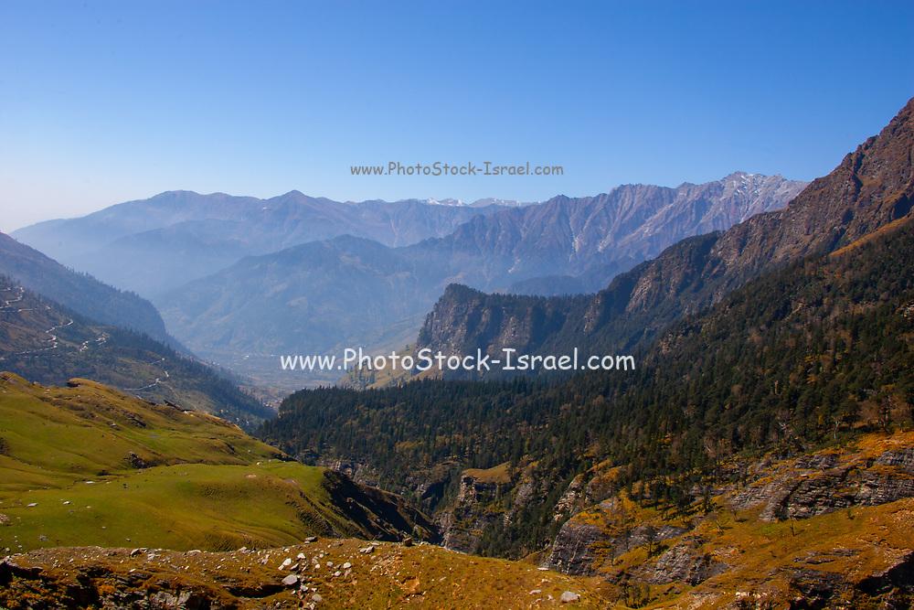 High Altitude and remote Himalayan Landscape, Himalayas, Himachal Pradesh, India