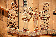 Bas Releif sculptures with scenes from the Bible on the outside of the 10th century Armenian Orthodox Cathedral of the Holy Cross on Akdamar Island, Lake Van Turkey 30 .<br /> <br /> If you prefer to buy from our ALAMY PHOTO LIBRARY  Collection visit : https://www.alamy.com/portfolio/paul-williams-funkystock/lakevanturkey.html<br /> <br /> Visit our TURKEY PHOTO COLLECTIONS for more photos to download or buy as wall art prints https://funkystock.photoshelter.com/gallery-collection/3f-Pictures-of-Turkey-Turkey-Photos-Images-Fotos/C0000U.hJWkZxAbg