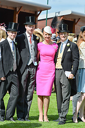 The Earl & Countess of Derby and their sons at The Investec Derby, Epsom, Surrey England. 3 June 2017.<br /> Photo by Dominic O'Neill/SilverHub 0203 174 1069 sales@silverhubmedia.com