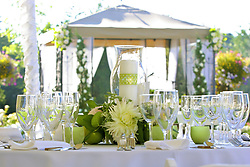 July 21, 2019 - Formal Place Settings On Outdoor Table (Credit Image: © Colleen Cahill/Design Pics via ZUMA Wire)