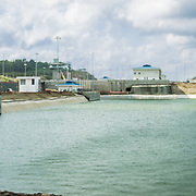 Central America, Panama, Panama Canal creates the shortest possible between the Atlantic and Pacific Oceans.