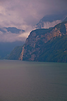 Switzerland - cloudy day on Lake Lucerne.