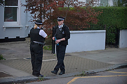 ©Licensed to London News Pictures  06/09/2020  Lewisham, UK. Police on scene. A murder investigation has been launched in Lewisham, South East London following the stabbing of a 34 year old man who was found with a wound to his neck in the early hours of Sunday morning. The man was pronounced dead at the scene.<br />  Photo credit: Grant Falvey/LNP