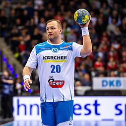 Christian Zeitz (TVB Stuttgart #20) beim Spiel in der Handball Bundesliga, TVB 1898 Stuttgart - HBW Balingen-Weilstetten.<br /> <br /> Foto © PIX-Sportfotos *** Foto ist honorarpflichtig! *** Auf Anfrage in hoeherer Qualitaet/Aufloesung. Belegexemplar erbeten. Veroeffentlichung ausschliesslich fuer journalistisch-publizistische Zwecke. For editorial use only.