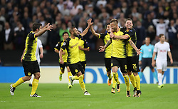 Borussia Dortmund's Andriy Yarmolenko celebrates scoring his side's first goal of the game during the UEFA Champions League, Group H match at Wembley, London.