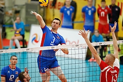 20170525 NED: 2018 FIVB Volleyball World Championship qualification, Koog aan de Zaan<br />Emanuel Kohut (3) of Slovakia <br />©2017-FotoHoogendoorn.nl / Pim Waslander