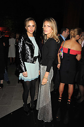 Left to right, MAYA KISELEV and EUGENIE NIARCHOS at the annual Serpentine Gallery Summer Party in Kensington Gardens, London on 9th September 2008.