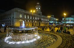 THEMENBILD - Brunnen auf dem Hauptplatz Madrid. Die Stadt Madrid ist eine der größten Metropolen in Europa. Sie liegt im Zentrum der iberischen Halbinsel und ist Hauptstadt von Spanien. Aufgenommen am 25.03.2016 in Madrid ist Spanien // Madrid is on of the biggest metropolis in Europe. It is located in the center of the Iberian Peninsula and is the capital of Spain. Spain on 2016/03/25. EXPA Pictures © 2016, PhotoCredit: EXPA/ Jakob Gruber