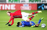 Fotball , 15. oktober 2013 , U21 ,  Norge - Israel<br /> Norway - Israel<br /> Roi Kehat , Israel<br /> Håvard Nielsen , Norge