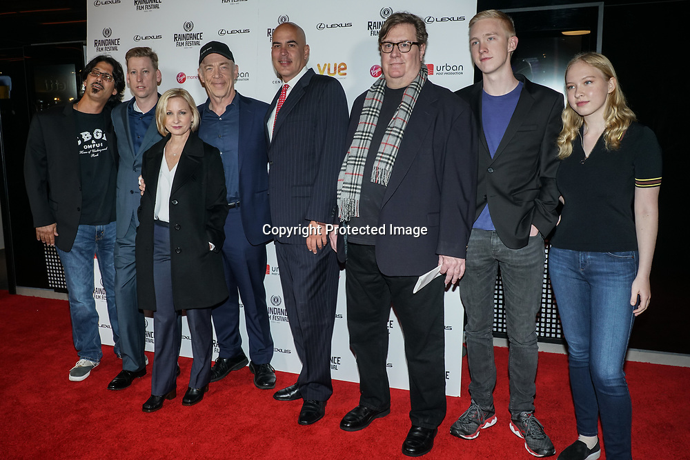 London, England, UK. 21th September 2017. Star J. K. Simmons and Director Michelle Schumacher and the product team attend Raindance Film Premiere of 'I'm Not Here', starring J.K. Simmons