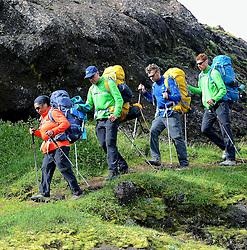 09-07-2014 ISL: Iceland Diabetes Challenge Dag 5, Emstrur<br /> Van Alftavatn naar Emstrur/ Ellen Liklikwatil, Bas, Eddy
