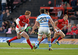 June 16, 2018 - Santa Fe, Argentina - Rhys Patchell from Wales runs with the ball during the International Test Match between Argentina and Wales at the Brigadier Estanislao Lopez Stadium, on June 16, 2018 in Sante Fe, Argentina. (Credit Image: © Javier Escobar/NurPhoto via ZUMA Press)
