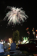 Pine Bush, NY  - People watch the fireworks display at the  Pine Bush Fire Department Firemen's Fair on the night of June 14, 2008.