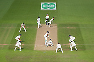 Moeen Ali bowling  the hat-trick ball to Ishant Sharma during the second day of the 4th SpecSavers International Test Match 2018 match between England and India at the Ageas Bowl, Southampton, United Kingdom on 31 August 2018.