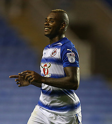 Reading's Leandro Bacuna celebrates scoring his side's first goal of the game