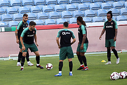 September 6, 2018 - Na - Loulé, 05/09/2018 - National Team AA: Preparation for the League of Nations: Adaptive training for the preparation match with Croatia at the Estádio Algarve. Bruno Fernandes; Reuben Neves; Renato Sanches; Gelson Martins; (Credit Image: © Atlantico Press via ZUMA Wire)