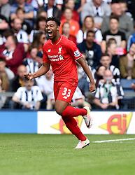 Jordon Ibe of Liverpool celebrates  - Mandatory by-line: Joe Meredith/JMP - 15/05/2016 - FOOTBALL - The Hawthorns - West Bromwich, England - West Bromwich Albion v Liverpool - Barclays Premier League