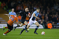 Blackpool's Brad Potts in action during todays match  <br /> <br /> Photographer Craig Mercer/CameraSport<br /> <br /> The EFL Sky Bet League Two Play-Off Semi Final Second Leg - Luton Town v Blackpool - Thursday 18th May 2017 - Kenilworth Road - Luton<br /> <br /> World Copyright © 2017 CameraSport. All rights reserved. 43 Linden Ave. Countesthorpe. Leicester. England. LE8 5PG - Tel: +44 (0) 116 277 4147 - admin@camerasport.com - www.camerasport.com