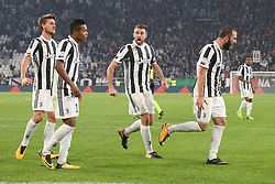 October 25, 2017 - Turin, Italy - Gonzalo Higuain (Juventus FC) celebrates after scoring during the Serie A football match between Juventus FC and S.P.A.L. 2013 on 25 October 2017 at Allianz Stadium in Turin, Italy. (Credit Image: © Massimiliano Ferraro/NurPhoto via ZUMA Press)