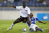 Fotball<br /> Frankrike 2004/05<br /> Strasbourg v Istres<br /> 28. august 2004<br /> Foto: Digitalsport<br /> NORWAY ONLY<br /> MOUSSA N'DIAYE (IST) / ETIENNE ARTHUR BOKA (STR)