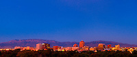 Panoramic view of the skyline of downtown Albuquerque (at twilight), New Mexico USA