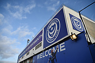 Outside the ground Fratton park during the EFL Sky Bet League 1 match between Portsmouth and Sunderland at Fratton Park, Portsmouth, England on 22 December 2018.